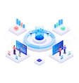 isometric business strategy and planning vector image vector image