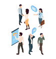 isometric people manager analytic girl briefcase vector image