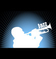 jazz musician on abstract background vector image vector image
