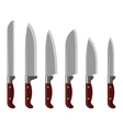Kitchen knife collection vector image vector image