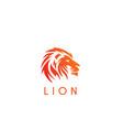lion head wind logo vector image vector image
