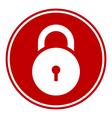 Lock symbol button vector image vector image