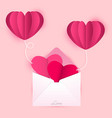 love letter cards and balloons vector image vector image