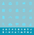 Mobile phone color icons on blue background vector image vector image