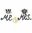 Mr and mrs with crown icon