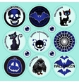 Nine isolated objects of Halloween vector image vector image