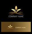organic plant gold logo vector image
