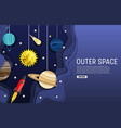 outer space web banner template layered vector image vector image