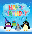 party penguin theme image 5 vector image vector image