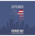 Patriot Day background with abstract city skyline vector image