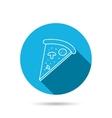 Pizza icon Piece of Italian bake sign