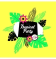 poster template tropical party vector image