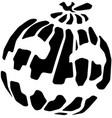 pumpkin halloween stencil vector image vector image