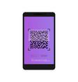 qr scanner mobile scans qr code vector image