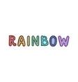 rainbow - fun hand drawn nursery poster with vector image