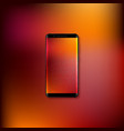 realistic 3d mobile smartphone vector image vector image