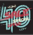 sale grunge vintage poster vector image