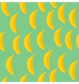 Seamless pattern of bananas with green background vector image vector image