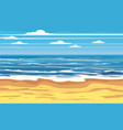 seascape tropical beach travel holiday vacation vector image vector image