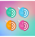 Set of abstract circles background with place for vector image vector image