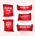 set of boxing day sale parchment and banners vector image vector image