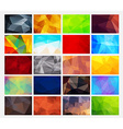 set of colorful abstract backgrounds polygonal vector image vector image