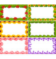 set of flower border vector image