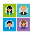 set of people avatar cards vector image