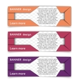 Set of web banners in modern style vector image vector image