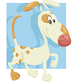 spotted dog cartoon vector image