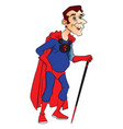 superhero with stick vector image