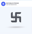 swastika icon filled flat sign solid vector image vector image