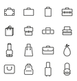 thin line icons - bag vector image