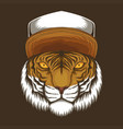 tiger hat vector image