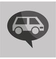 traffic sign concept icon van car vector image