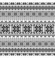 ukrainian belarusian folk art seamless pattern vector image vector image