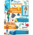 washing windows and cleaning service household vector image
