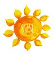 Watercolor Sun vector image vector image