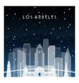 Winter night in los angeles night city