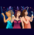 women dancing in a club vector image