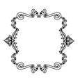decorative frame floral border crest royal element vector image