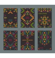 set of six cards Ethnic ornate pattern vector image