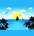 sunny and sea vector image