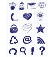 Hand drawn internet and web icons vector image
