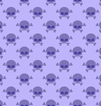 Skull with crossbones background Seamless purple vector image