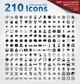 210 icons universal set vector image