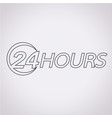 24 hours logo icon vector image