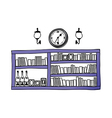 A view of bookshelf vector image vector image