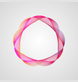 abstract colorful design neon frame with gradient vector image vector image