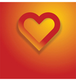 abstract heart on orange vector image vector image